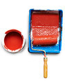 Renovations. Painting tools and an open can of paint. - PhotoDune Item for Sale
