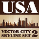 Vector City Skyline USA Set Number 2 - GraphicRiver Item for Sale