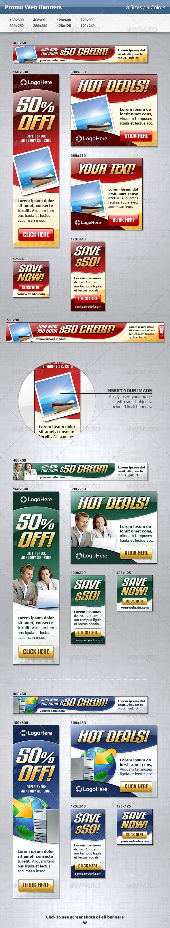 GraphicRiver Promo Web Banners 4730492