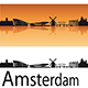 Amsterdam Skyline in Orange Background - GraphicRiver Item for Sale