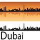 Dubai Skyline in Orange Background - GraphicRiver Item for Sale