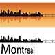 Montreal Skyline in Orange Background - GraphicRiver Item for Sale
