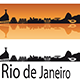 Rio de Janeiro Skyline in Orange Background - GraphicRiver Item for Sale