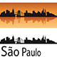 Sao Paulo Skyline in Orange Background - GraphicRiver Item for Sale