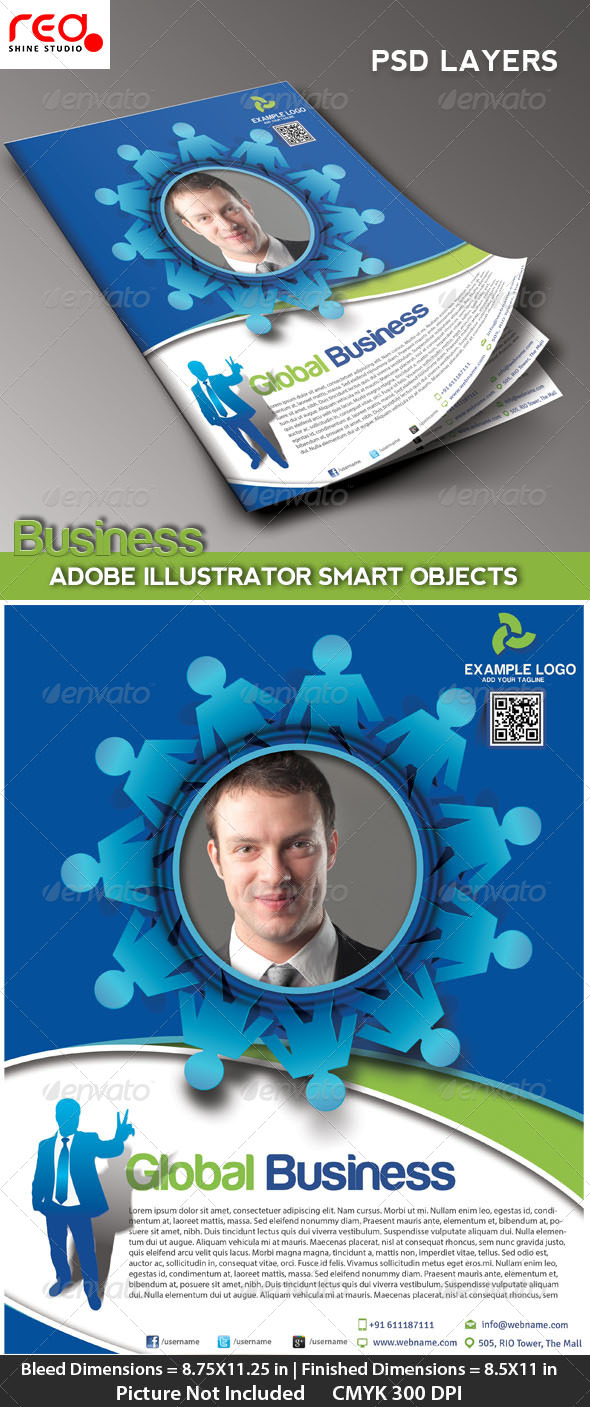 GraphicRiver Business Promotion Flye Poster & Magzine Template 4730543