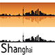 Shanghai Skyline in Orange Background - GraphicRiver Item for Sale