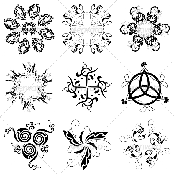 GraphicRiver Circular Floral Designs Vector Pack 4730871
