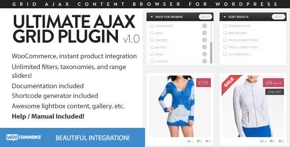 CodeCanyon Ultimate Ajax Grid for WordPress 4730887