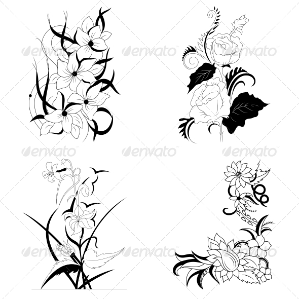 GraphicRiver Decorative Floral Elements Vector Pack 4730909