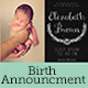 Chalkboard Flowers Birth Announcement Card - GraphicRiver Item for Sale