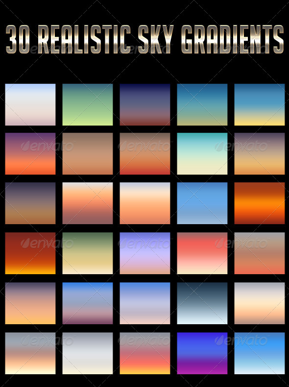 GraphicRiver 30 Realistic Sky Gradients 4731285