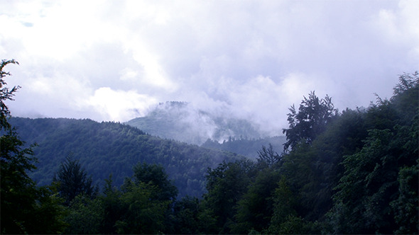 Mist Rises in Wild Mountains