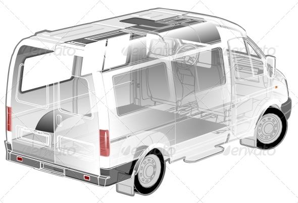 GraphicRiver Van Infographics cutaway 4731529