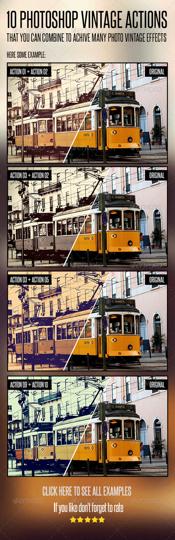GraphicRiver 10 Photoshop Vintage Actions 4731555