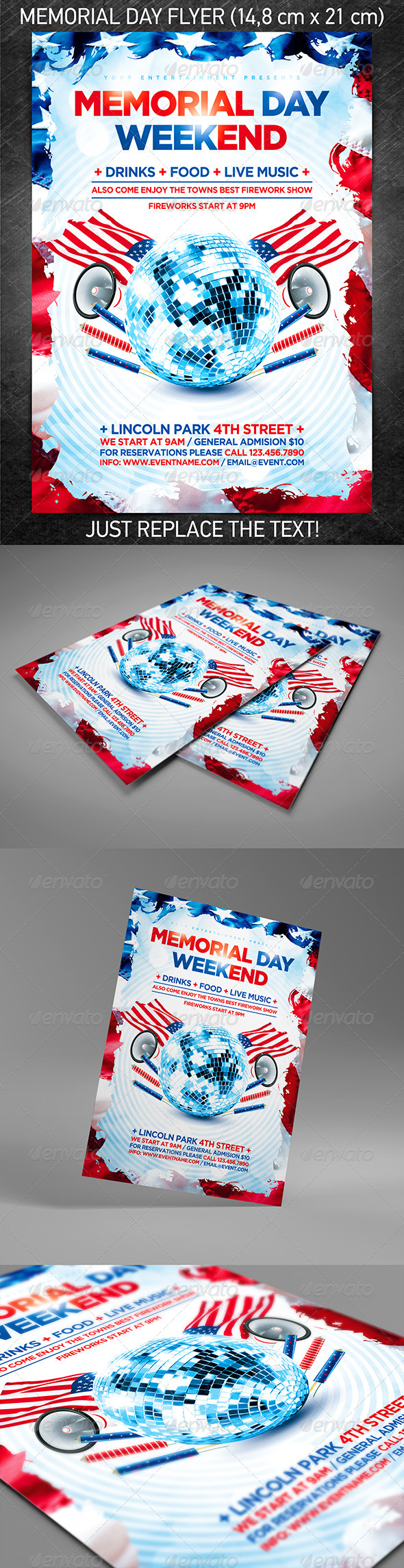 GraphicRiver Memorial day weekend party flyer 4625255