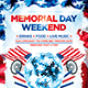 Memorial day weekend party flyer - GraphicRiver Item for Sale