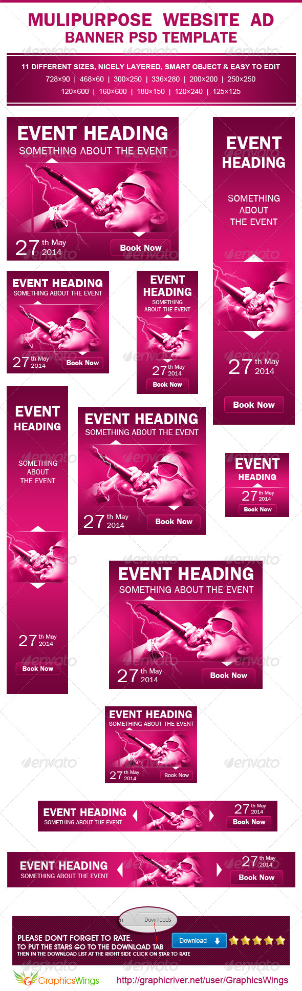 GraphicRiver Multipurpose Event Promotion Ad PSD Template 4731841