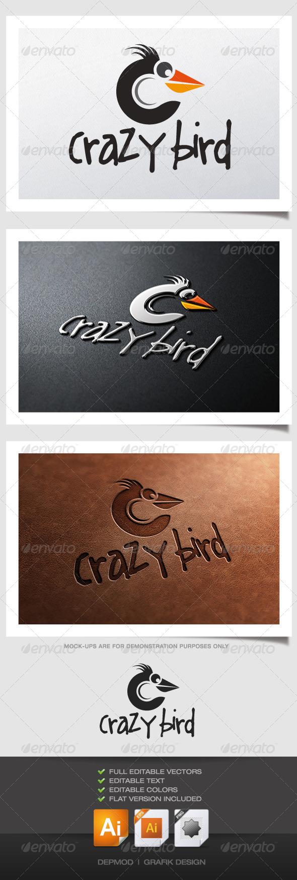 GraphicRiver Crazy Bird Logo 4731961