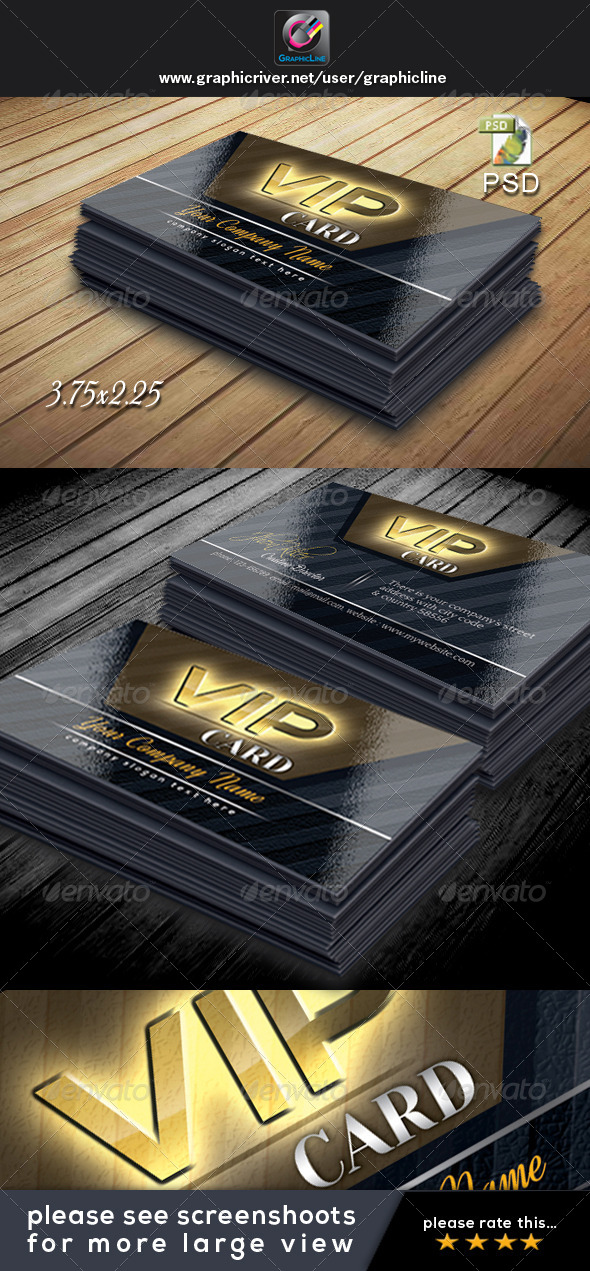 GraphicRiver VIP Card Template 4732027