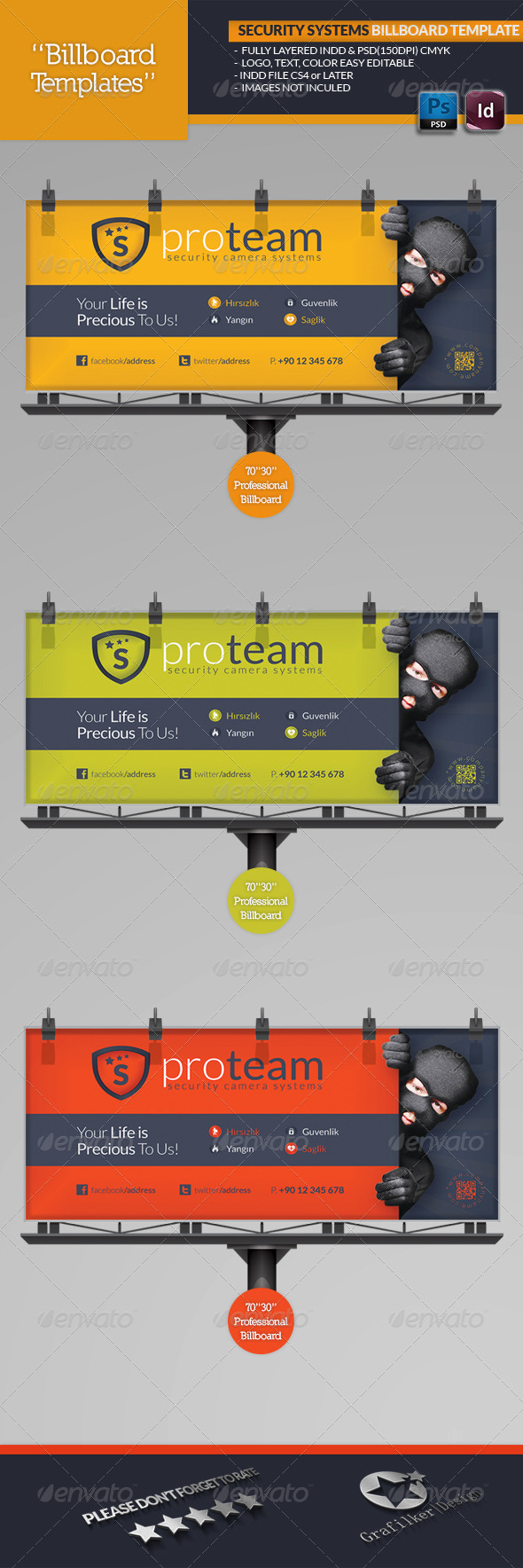 GraphicRiver Security Systems Billboard Template 4732199