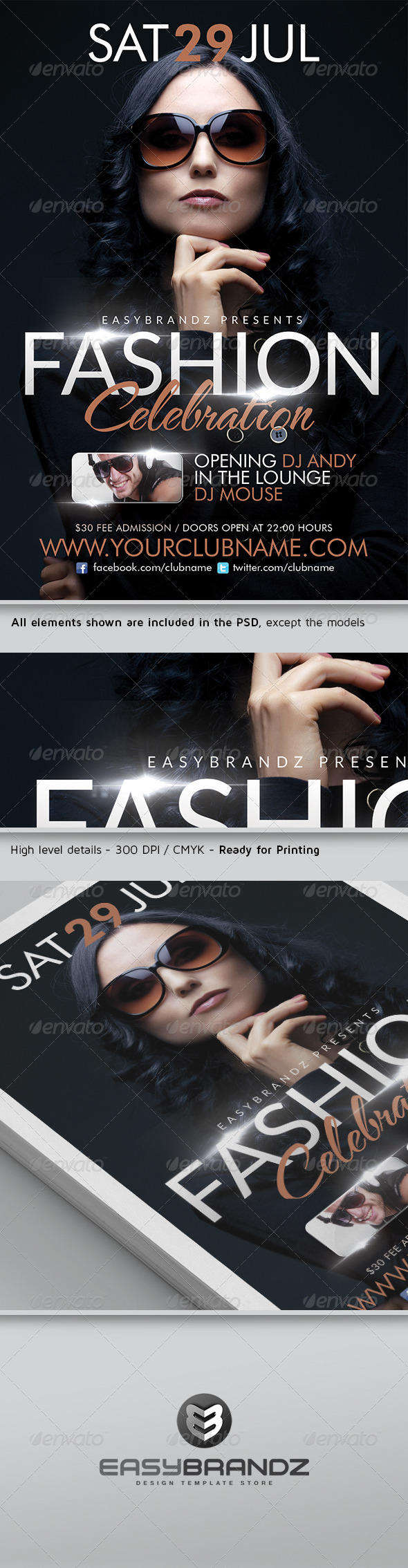 GraphicRiver Fashion Celebration Flyer Template 4639912