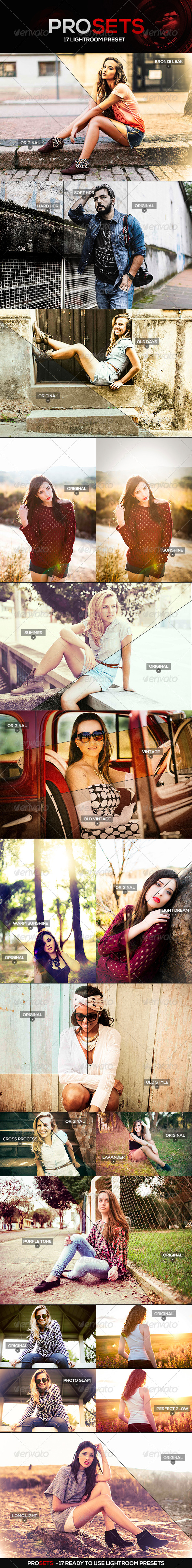 GraphicRiver PROSETS Lightroom Presets 4732275