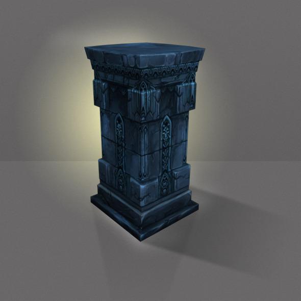 3DOcean Stone Pillar Low Poly 4732282