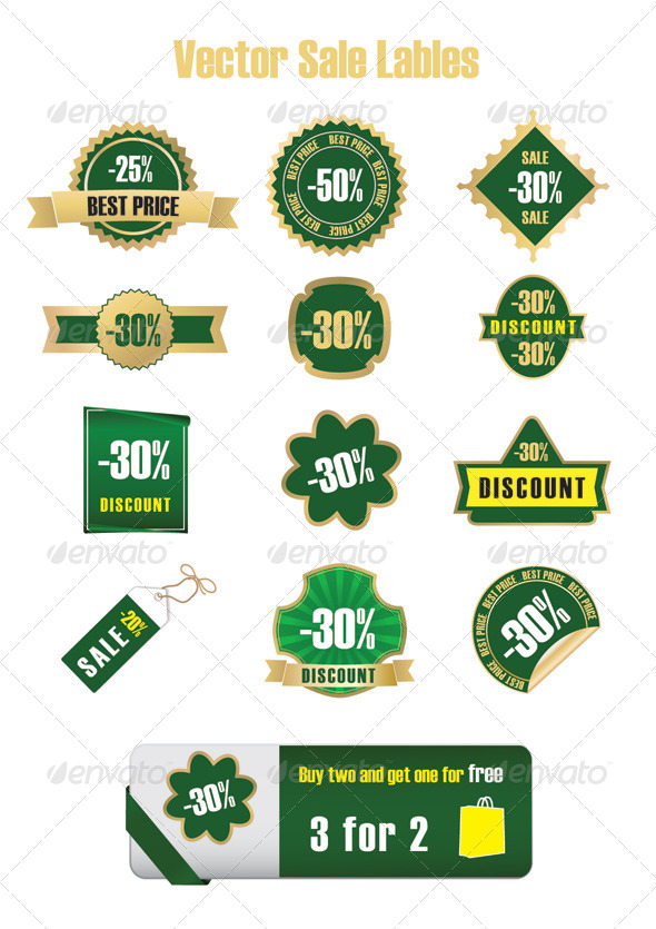 GraphicRiver Sale Labels vector 4732284