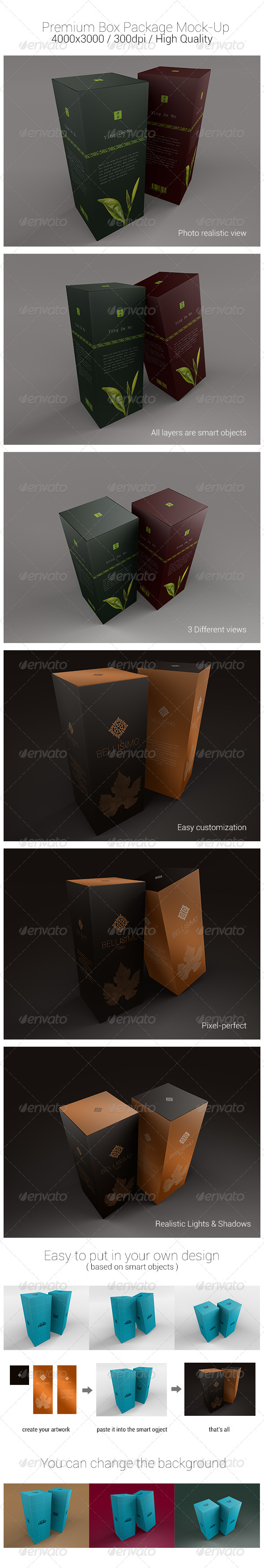 Premium Box Package Mock-Ups