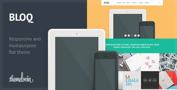 ThemeForest Bloq Responsive and Multipurpose Flat Theme 4732427