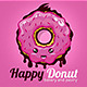 Happy Donut Logo Template - GraphicRiver Item for Sale
