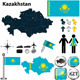 Map of Kazakhstan - GraphicRiver Item for Sale