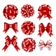 Set of Red Gift Bows. - GraphicRiver Item for Sale