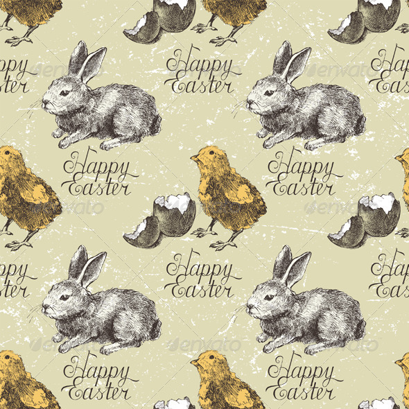 GraphicRiver Easter Seamless 4732559