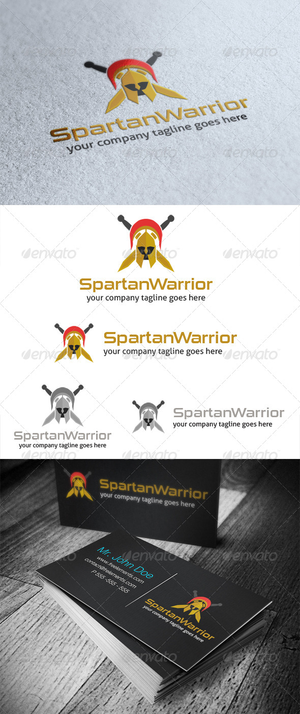 GraphicRiver Spartan Warrior Logo 4100279