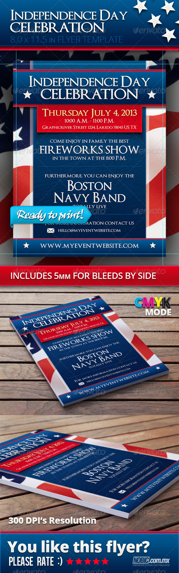 GraphicRiver Independence Day Flyer Template 4732674