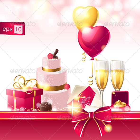 GraphicRiver Wedding Background 4732715