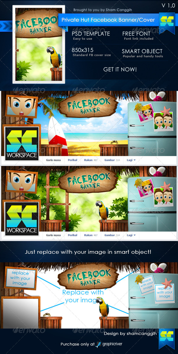 GraphicRiver Private Hut Facebook Timeline Covers 4733267