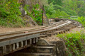 railway on Kwai river in Thailand - PhotoDune Item for Sale