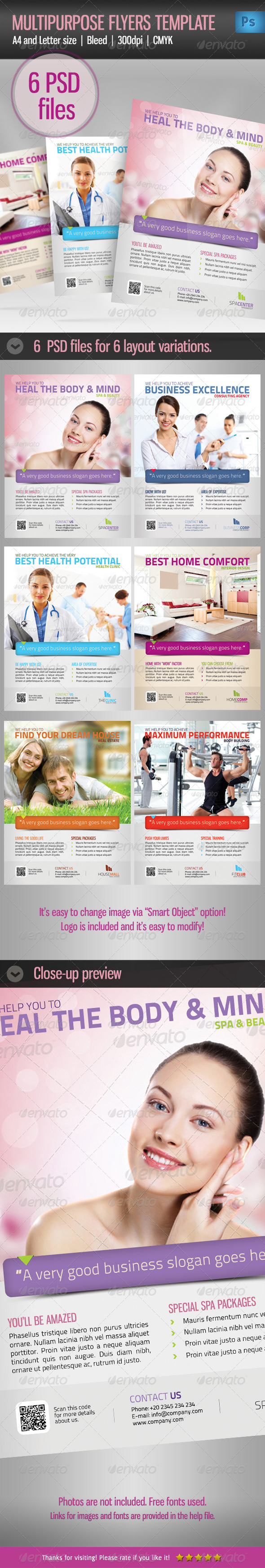 GraphicRiver Multipurpose Business Flyer Template vol 2 4733548