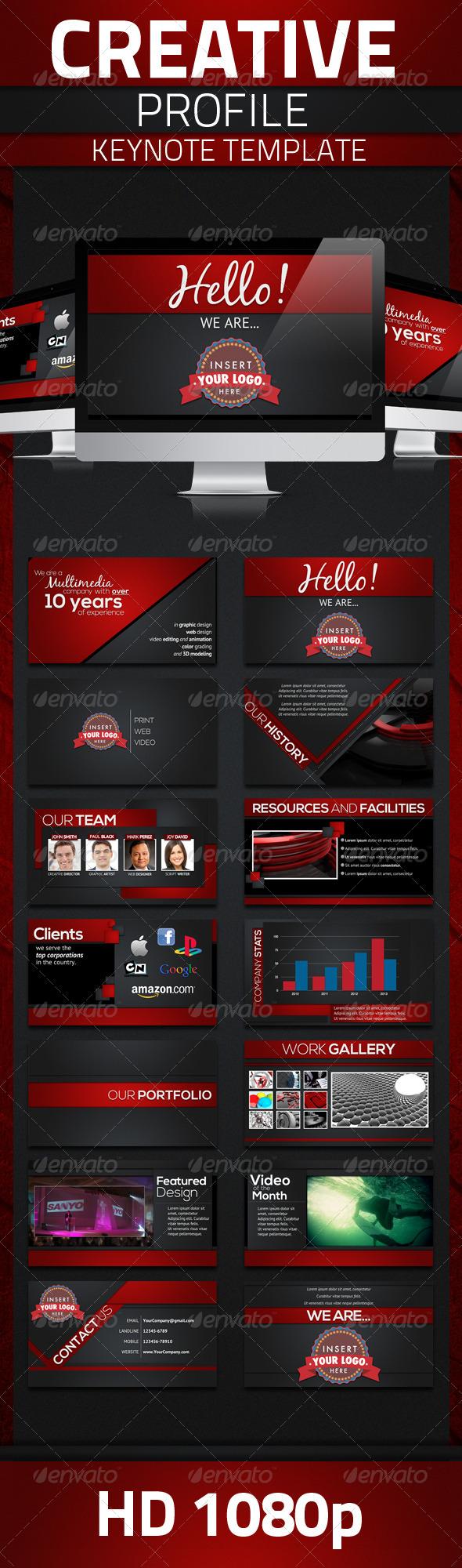 GraphicRiver Creative Profile Keynote Template 4699332