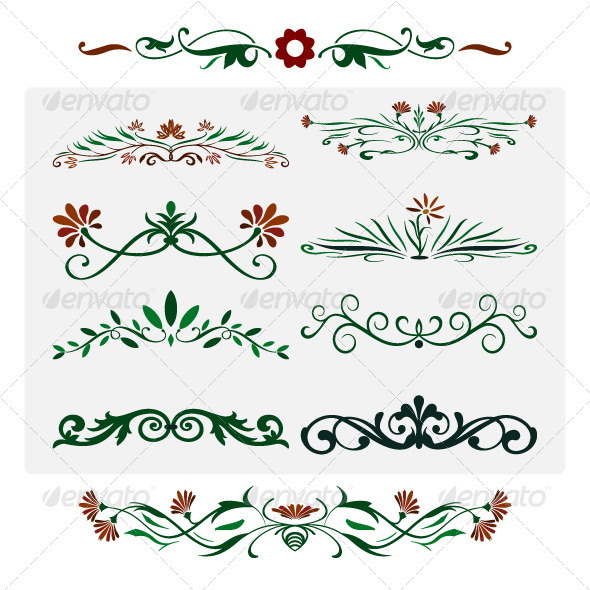 GraphicRiver Floral Design Elements 4733975