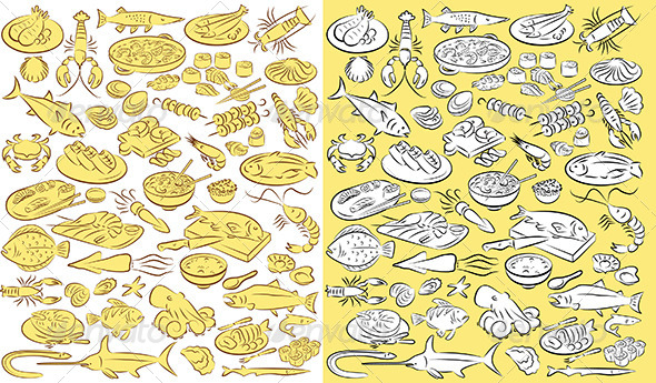 GraphicRiver Sea Food Vector 4733979