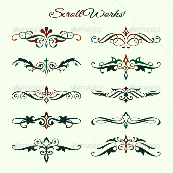 GraphicRiver Scroll Works Design Elements 4733987