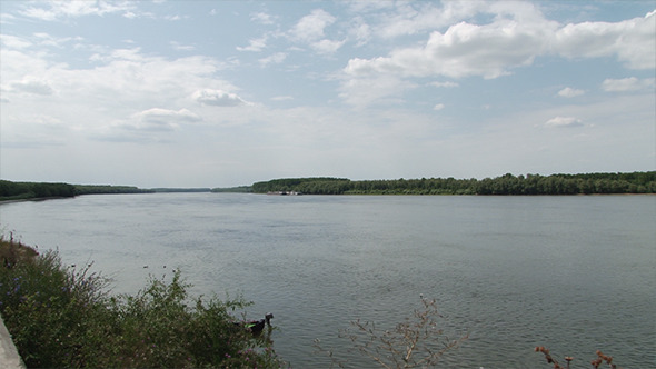 Very Wide River Panorama