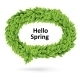 Green Spring Speech Bubble of Leaves - GraphicRiver Item for Sale