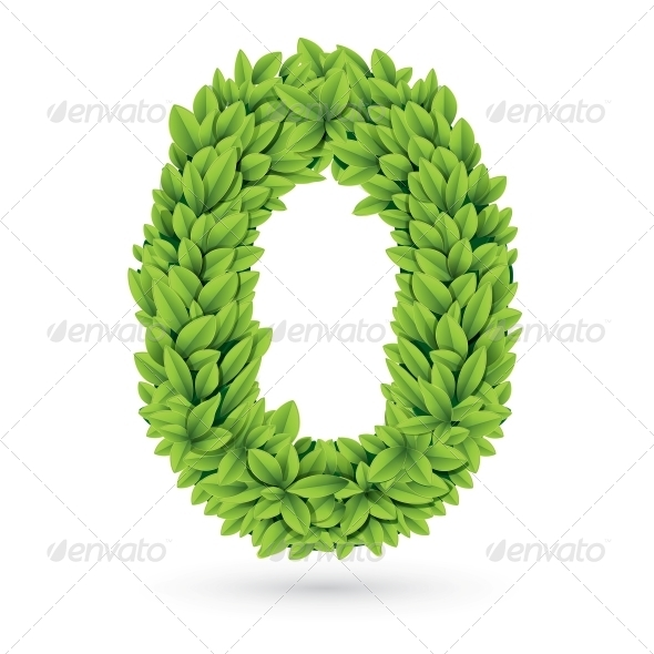 GraphicRiver Number of Green Leaves with Shadow 4734033