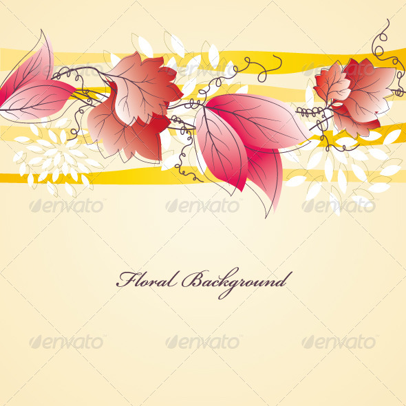 GraphicRiver Floral Background 4734097