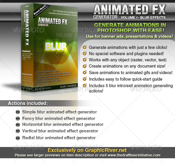 Animated FX Generator vol. 1: Animated Blur FX - Photoshop Add-ons