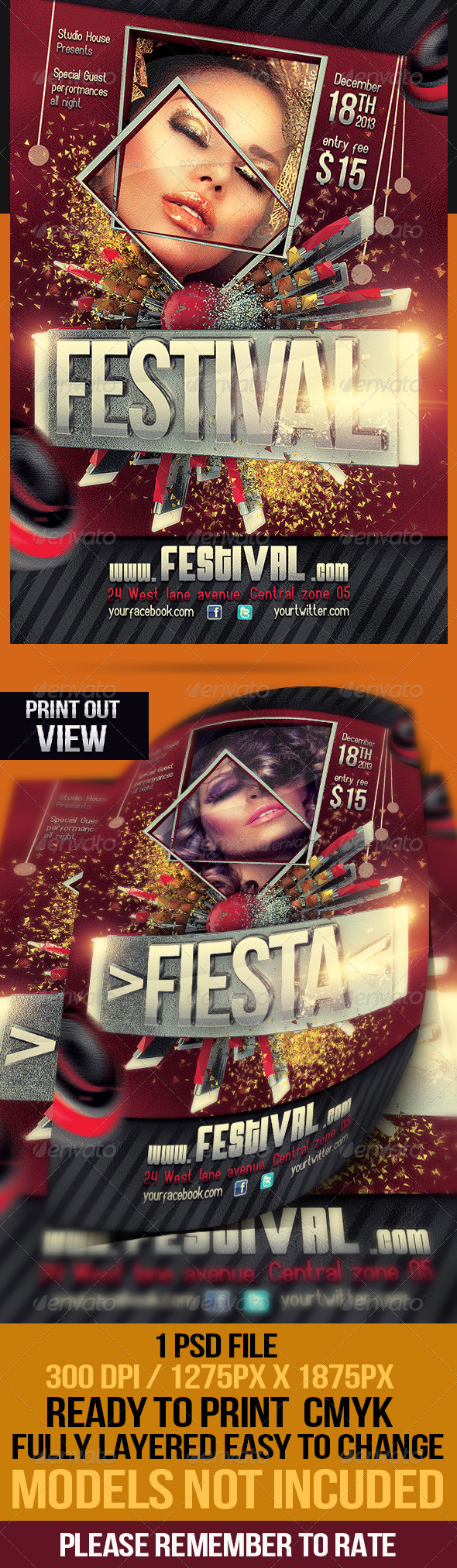 GraphicRiver Festival Fiesta Party Flyer 4658968